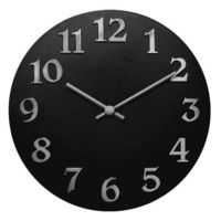 "Infinity Instruments Vogue-11 3/4"" Resin Wall Clock"