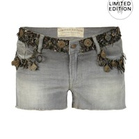 Embellished Grey Waters Lowe Shorts
