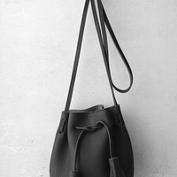 Mercy Black Mini Bucket Bag