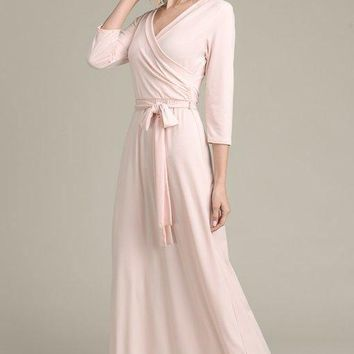 The Jonna Wrap Maxi Dress