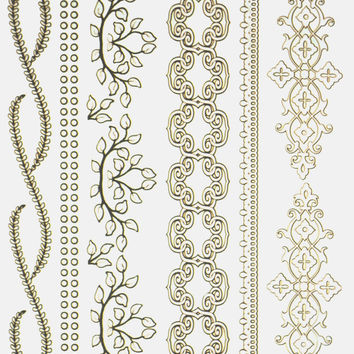 Escape Hair and Arm Metallic Flash Tattoo Pack