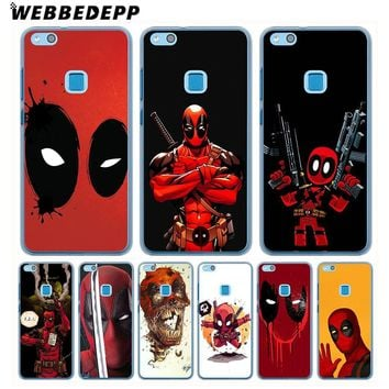 WEBBEDEPP Marvel Deadpool Comic Spiderman Phone Case for Huawei Nova 2i Lite Mate 10 lite Y7 Y6 Y5 2018 2017 II Cover