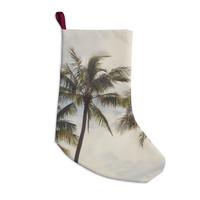 "Catherine McDonald ""Boho Palms"" Coastal Trees Christmas Stocking"