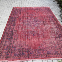 overdyed rug turkish handmade wool carpet rug