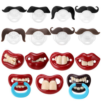 Funny Silicone Baby Pacifier Comedy  Teether Orthodontintic  My4Kings