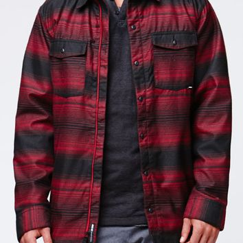 Nike SB Dimension Flannel Jacket - Mens Tee - Red