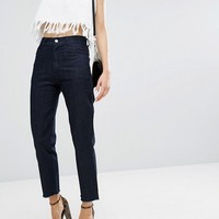 Vale High Rise Fray Hem Cropped Jean at asos.com