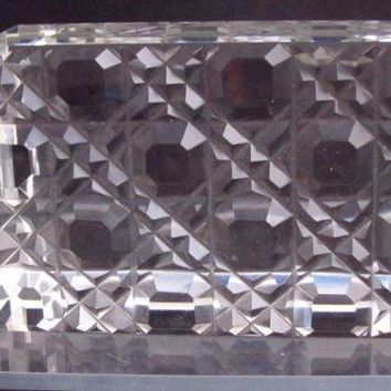Hand Cut Glass paperweight, DEEP CUT 24% lead crystal