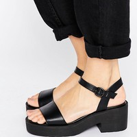 London Rebel Chunky Low Sandal at asos.com