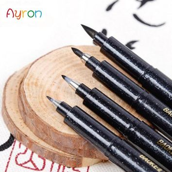 4 Pcs/Set Chinese Japanese Calligraphy Brush Pen