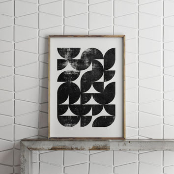 Abstract art,Geometric art,black and white,watercolor design,instant download,modern wall decor,home decor,apartment decor,gallery wall art
