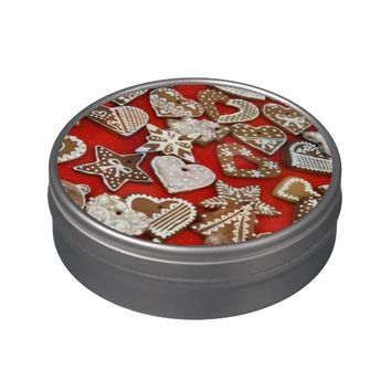 Christmas Candy Peek a Boo Tin Jelly Belly Candy Tin