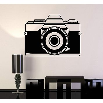 Vinyl Wall Decal Photo Art Vintage Old Camera Stickers Mural Unique Gift (ig4526)