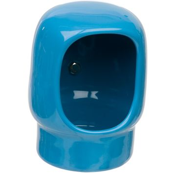 Petco Blue Curved Bird Crock with Clamp
