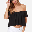 Spice It Up Off-the-Shoulder Black Top