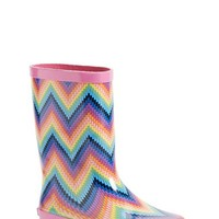 Girl's Laura Ashley Chevron Rain Boot