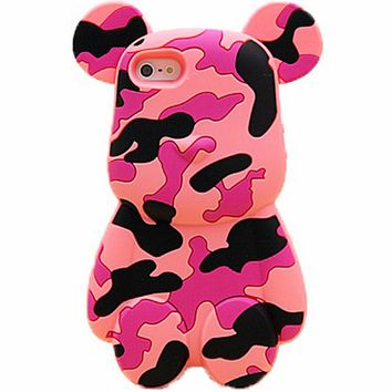 Pink Camouflage Bear iPhone 6 Case