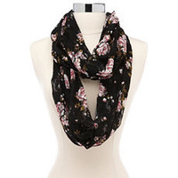 Printed Floral Lace Infinity Scarf: Charlotte Russe