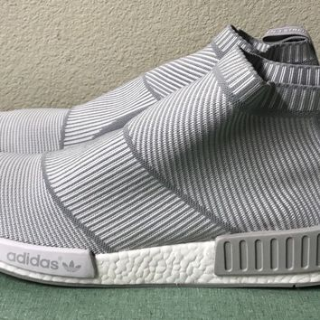 Adidas NMD CS1 PK City Sock Primeknit White Light Grey Mens Sz 18 Boost S32191