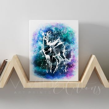 Patronus doe Severus, Snape & Lily Potter Gallery Wrapped Canvas