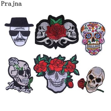 Prajna Ghostbusters Skull Applique Stalker Biker Sewing Iron On Patches For Clothing Military Tactical  Stripe On Clothes Punk