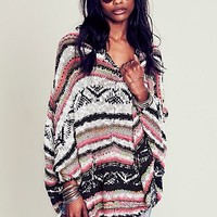 Free People Womens Bubble Tea Poncho