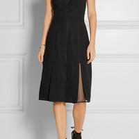 Jason Wu - Silk organza-paneled wool dress