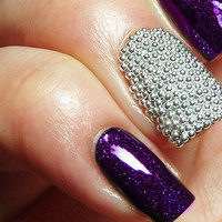 Caviar Nail Beads - Easy DIY, Home Manicure - Black or Silver