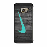 Nike Mint Just Do It Wooden Samsung Galaxy S6 Edge Case