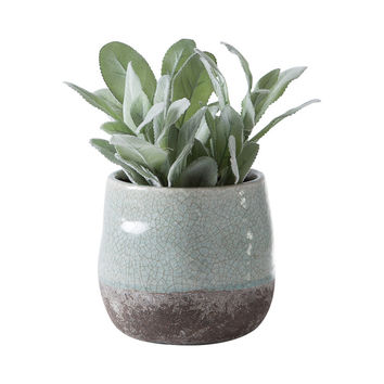 Stone and Ice Two-Tone Pot