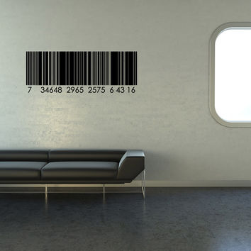 Vinyl Wall Decal Sticker UPC Code #1100