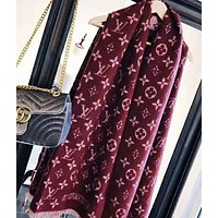 LV Louis Vuitton Popular Women Comfortable Cashmere Cape Scarf Scarves Shawl Accessories