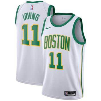 Men's Boston Celtics #11 Kyrie Irving Nike White 2018/19 Swingman Jersey – City Edition - Best Deal Online