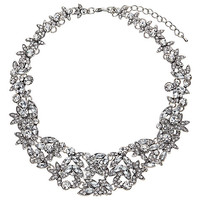 Buy John Lewis Statement Cubic Zirconia Necklace, Silver | John Lewis