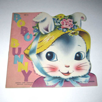 Bobo Bunny Vintage 1950s Children's Book by Samuel Lowe Co. Ilustrated by Edith Reichman