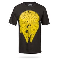 Star Wars Falcon T-Shirt - Black,