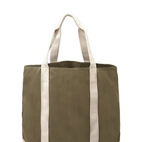 Two-Tone Canvas Weekender