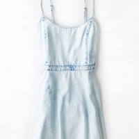 AEO Women's Chambray Sundress (Cloud Wash)