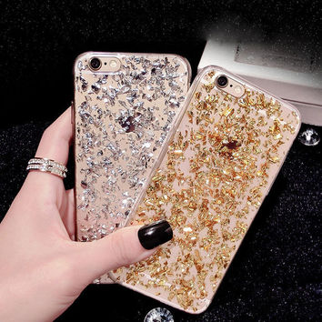 Sparkling sand mobile phone case for iphone 5 5s SE 6 6s 6 plus 6s plus + Nice gift box 072301