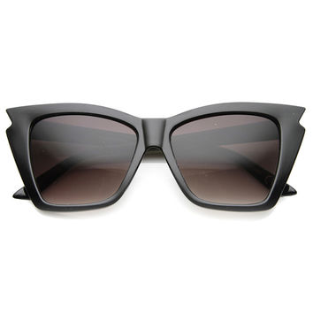 JAGGED EDGE CAT EYE SUNGLASSES