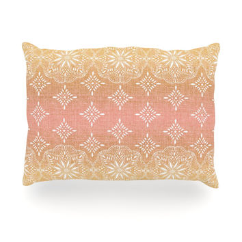 "Suzie Tremel ""Medallion Blush Ombre"" Pink Oblong Pillow"