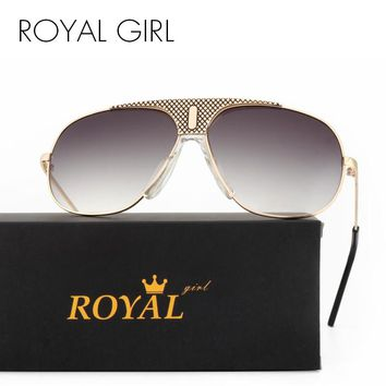 ROYAL GIRL Top Quality Sunglasses Men Brand Designer 2017 Fashion Aviator Driving Sun Glasses Mens Sunglasses SS234
