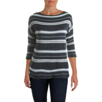 American Living Womens Knit Striped Pullover Sweater
