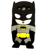 Minidandan Black 3d Cartoon Hero Batman Soft Silicone Back Case Cover Skin for Samsung Galaxy S3 I9300