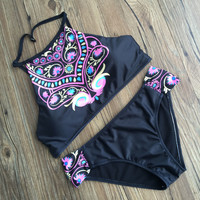 New Arrival Summer Beach Hot Swimsuit Bohemia Swimwear Backless Sexy Bikini [10603725519]