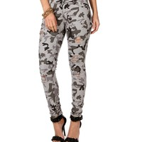 Sale- Camo Destructed Jeans