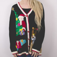 Vintage Santa Claus Ugly Christmas Sweater