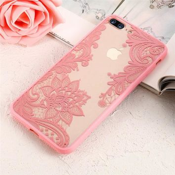 Lace Flower Phone Case for iPhone
