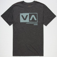 Rvca Cut Out Box Mens T-Shirt Black  In Sizes