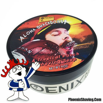 Aloha SmackDown Shaving Soap - Classic Hawaiian Punch